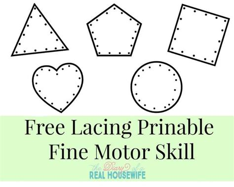 learning small and large free printables the diary of 412 | Free Lacing Printable. Fine Motor Skills Activity For Your Little Ones 1024x819