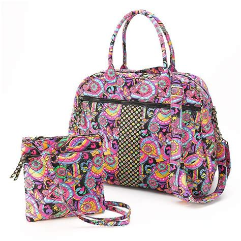 quilted duffle bag paisley quilted duffel bag crossbody bag 2 set nwt