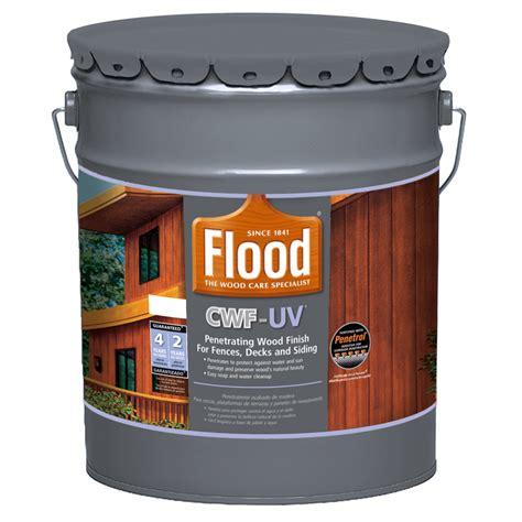 shop flood cwf uv  gallon size container pre tinted cedar