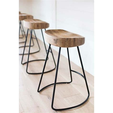 Wooden Island Stools by The Rustic Tractor Seat Oak Wooden Bar Stool Is A