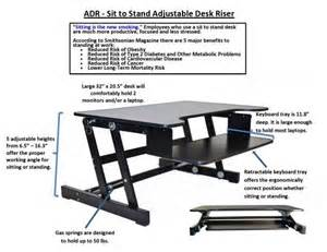 rocelco sit to stand adjustable height desk riser adr