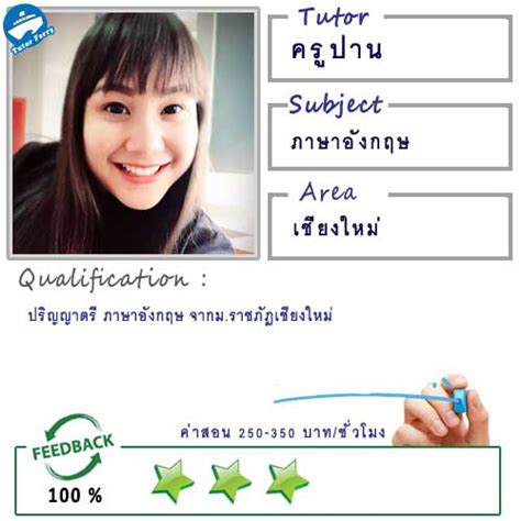 เรียนภาษาอังกฤษกับครูปาน ( ID:11805 ) | อันดับ1 ครูสอน ...