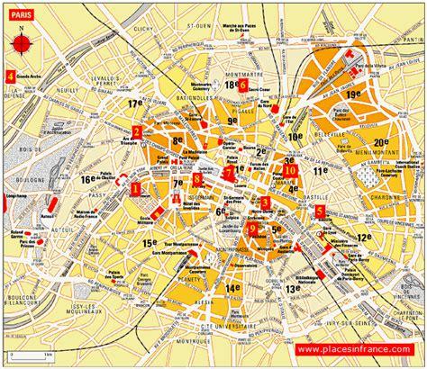 map  paris  france  tourist attractions