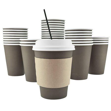 Our insulated paper cups for hot drinks can be custom printed in bulk for you! 100 Pack - 8 Oz 12, 16, 20 Available Disposable Hot ...
