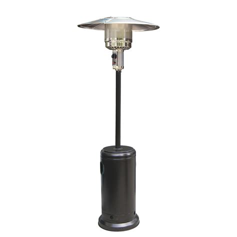 outdoor patio heater black powder coated hammered metal steel outdoor garden