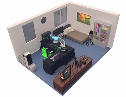 Setup Gaming Bedroom Desk Studio Gamer Gum