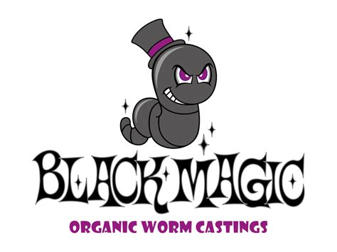 farm logo design  black magic organic worm castings