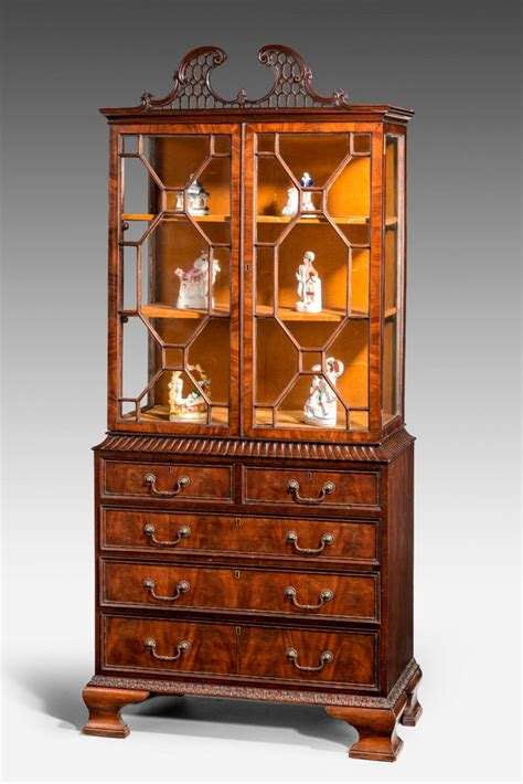 Bookcase China Cabinet by Late 19th Century Small Bookcase China Cabinet 370732