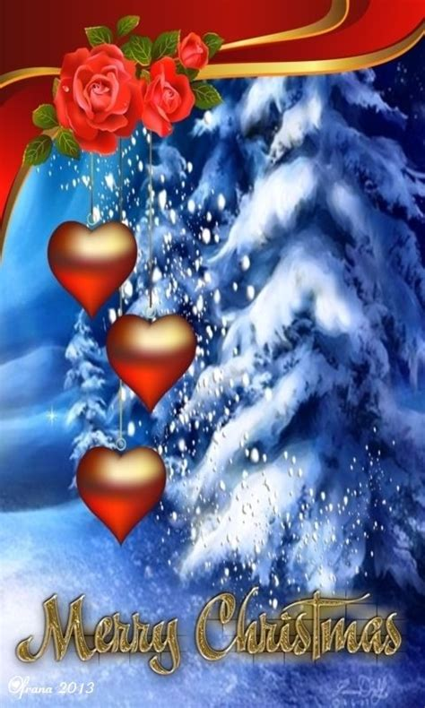 Download 480x800 «merry Christmas By Ofrana» Cell Phone
