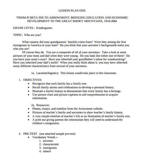 8 kindergarten lesson plan templates for free 856 | Kindergarten Lesson Plan Template PDF
