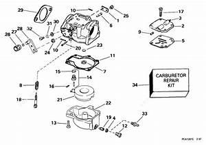 Evinrude 1999 50 - E40wrees  Carburetor