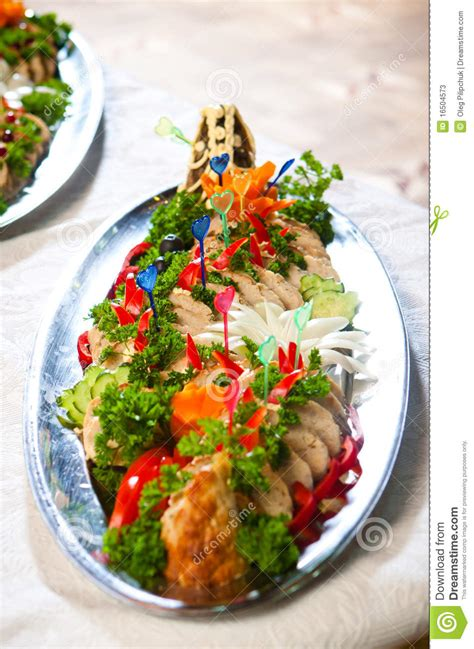 catering food delicious stock  image