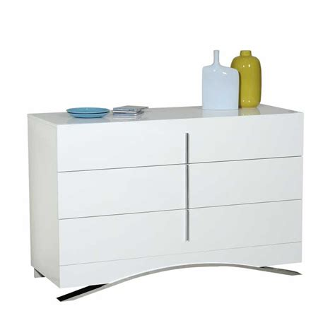 commode chambre blanc laqué commode chambre commode 6 tiroirs thelma commode de