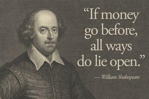 shakespeare essential quotes  money money