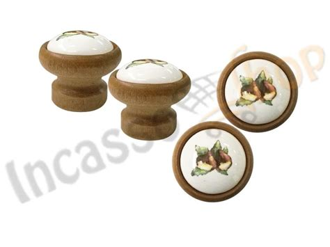 pomelli per ante cucina pomolo pomello castagna p09 legno scuro rotondo inserto