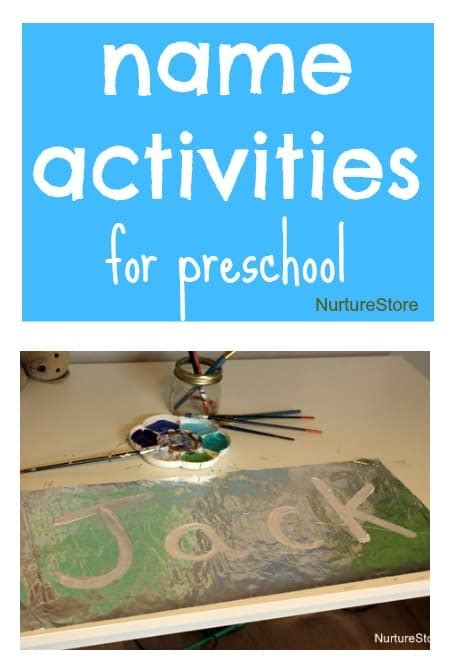 hands on learning activities for preschoolers name activities for preschool nurturestore 188