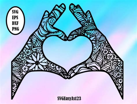 These designs are not to be distributed outside of our website. Love svg Love Mandala Svg Love Zentangle SVG Mandala svg ...