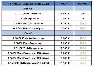 Tarif Clio 4 : news automoto renault clio estate 2013 tarifs partir de euros mytf1 ~ Maxctalentgroup.com Avis de Voitures