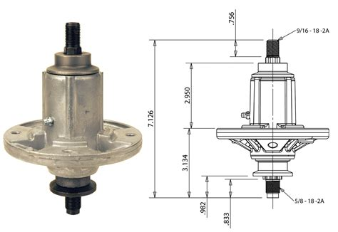 Rotary # 12910 Spindle Assembly For John Deere # Gy21098