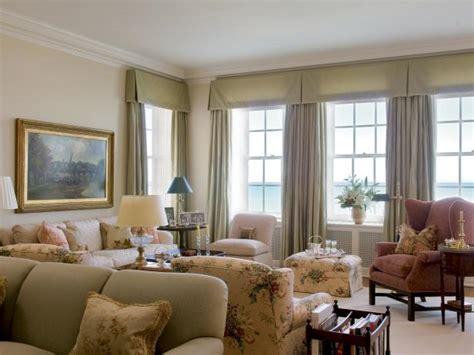 traditional living room  silk window treatments hgtv