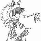 Coloring Native Village sketch template