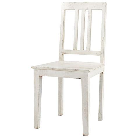 chaises blanche chaise en manguier blanche effet vieilli avignon maisons