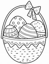 Easter Coloring Kyxy Basket sketch template