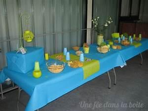 Deco Vert Anis : deco table turquoise vert anis ~ Teatrodelosmanantiales.com Idées de Décoration