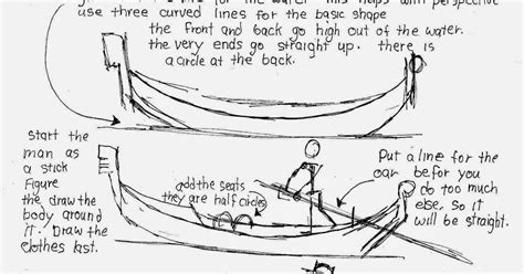 How To Draw A Gondola Boat by How To Draw Worksheets For The Artist How To Draw A