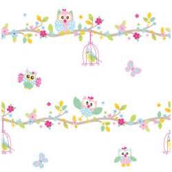 fuß tapete kinderzimmer patchwork eule tapete und bordüre weiß rosa pastell kinderzimmer kindergarten ebay