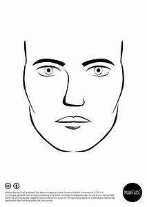 Male Makeup Face Chart