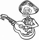 Skeleton Coloring Guitar Mariachi Pages Playing Drawing Dinosaur Pirate Skeletons Cartoon Halloween Head Getdrawings Clipartpanda Anime Netart Printable Clipart Human sketch template