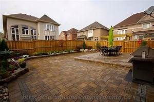 Custom landscaping toronto backyard interlock05 toronto for Custom backyard designs