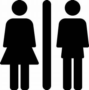 Toilets Sign With Woman And Man Svg Png Icon Free Download ...