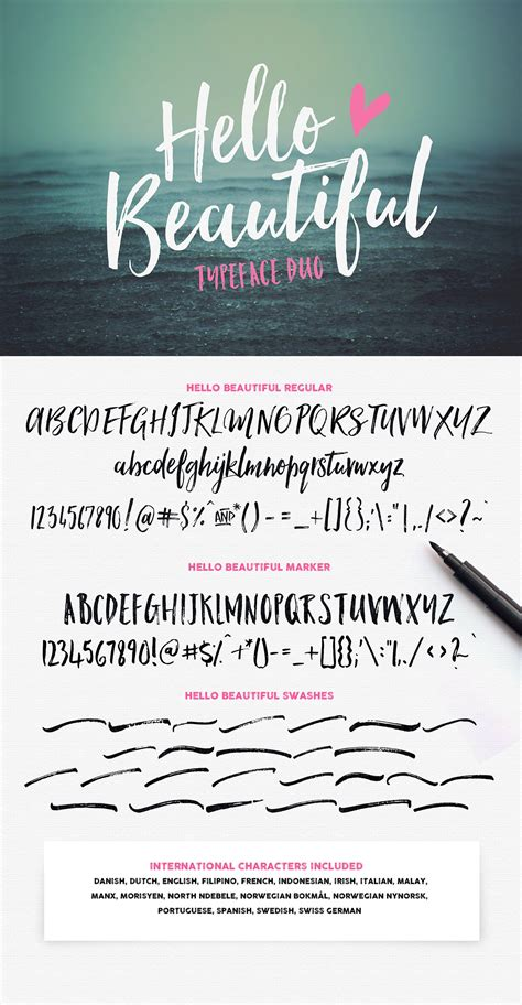 beautiful font duo swashes fonts creative market