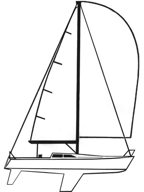 Sailboat Lines by Sailboat Line Drawing Clipart Best