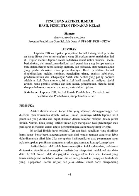 Contoh Abstrak Dalam Laporan Penelitian - Contoh Oliv