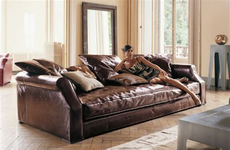 High End Leather Sofa by Longhi Furniture