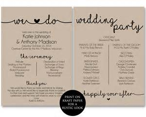 wedding program templates ceremony program template printable wedding programs