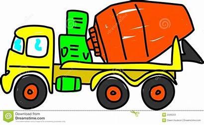 Mixer Concrete Cement Clipart Truck Slab Mix