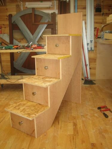 woodwork bunk bed stairs  drawers plans  plans