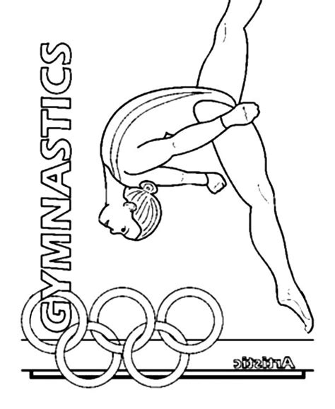 Kleurplaat Turnen by Gymnastics Coloring Pages Kidsuki