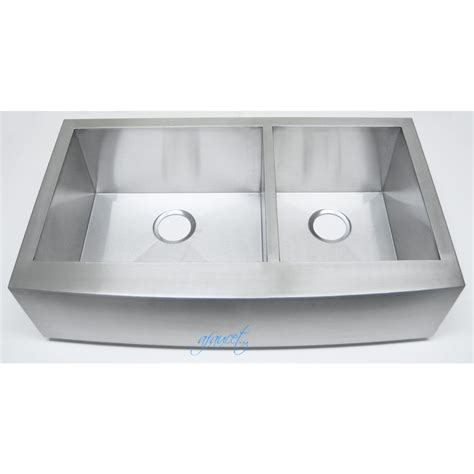 36 apron front kitchen sink 36 inch stainless steel curved front farmhouse apron 60 40