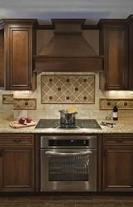 Wood vent hood homesfeed for Wood stove backsplash