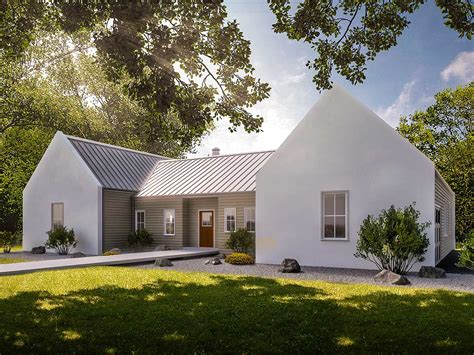 Modern Country 3-bed House Plan