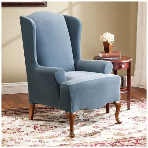 sure fit furniture covers sure fit stretch pearson wing chair slipcover 292826
