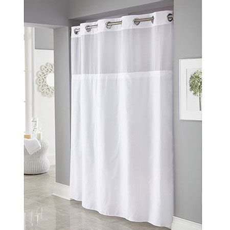 hookless shower curtains hookless white mystery polyester shower curtains walmart