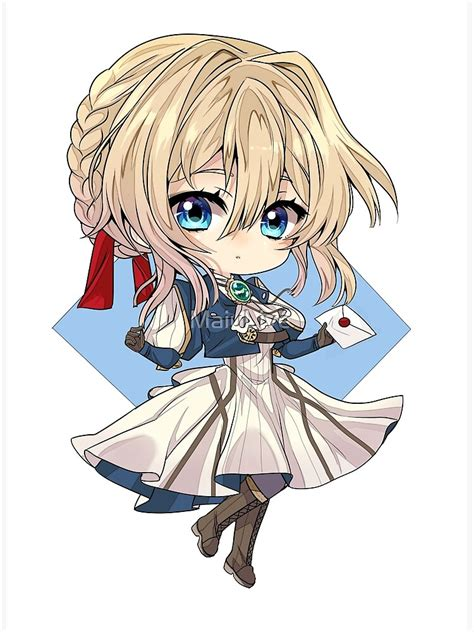 violet evergarden stickers poster by maiulive redbubble