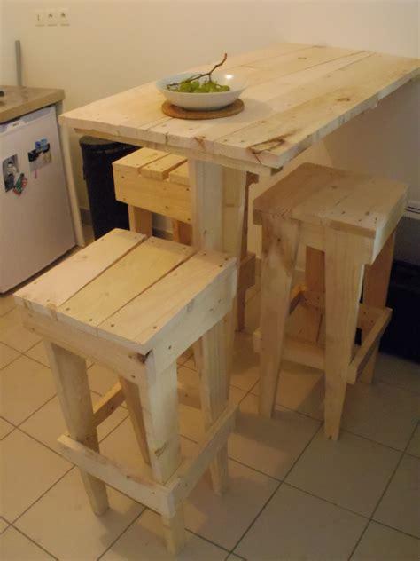 fabriquer une table haute de cuisine farqna