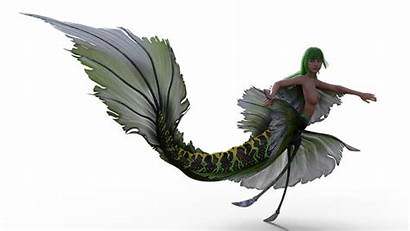 Mermaid Topless Boobs Tail Creature Isolated Pixel